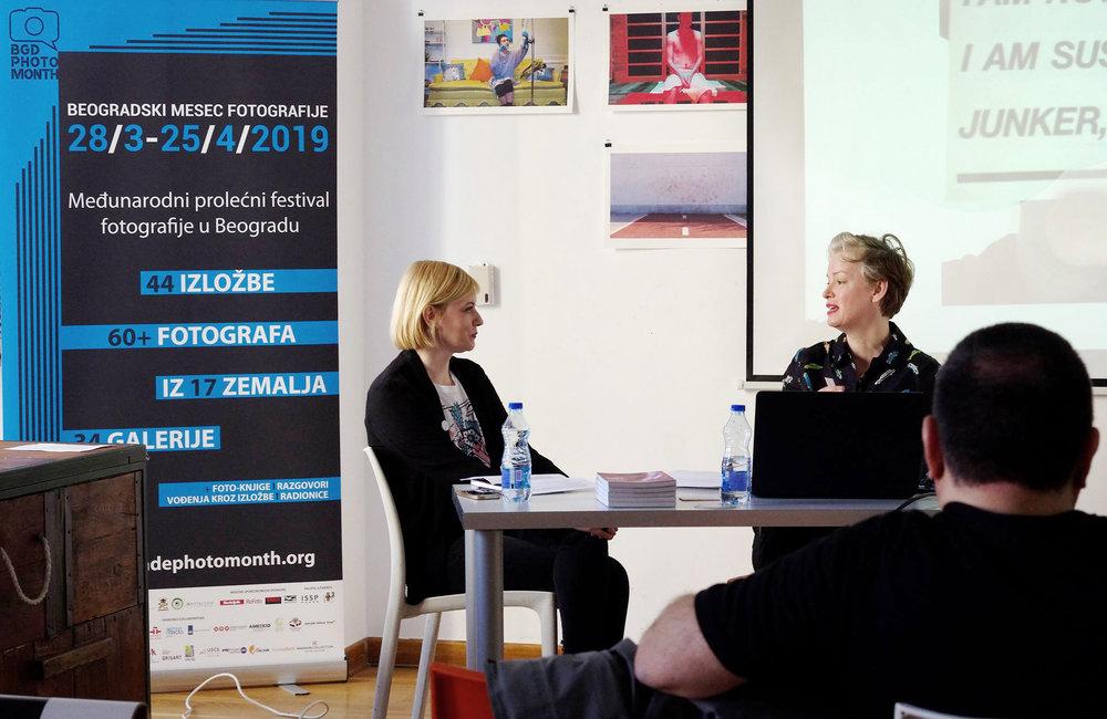 Marija Jovanovic and Susanne Junker in conversation.