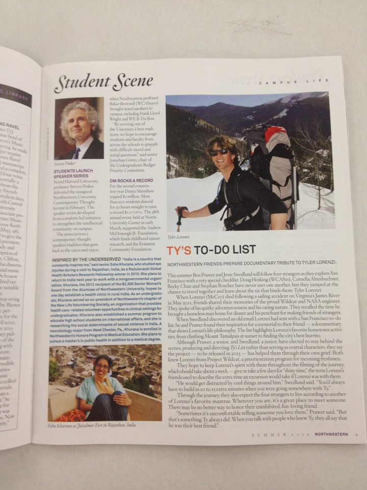 Read about Ty's List on page 9 of NU magazine!