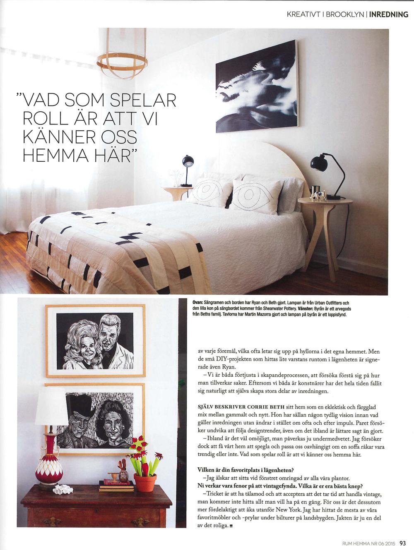 News corrie beth hogg for Swedish design magazine