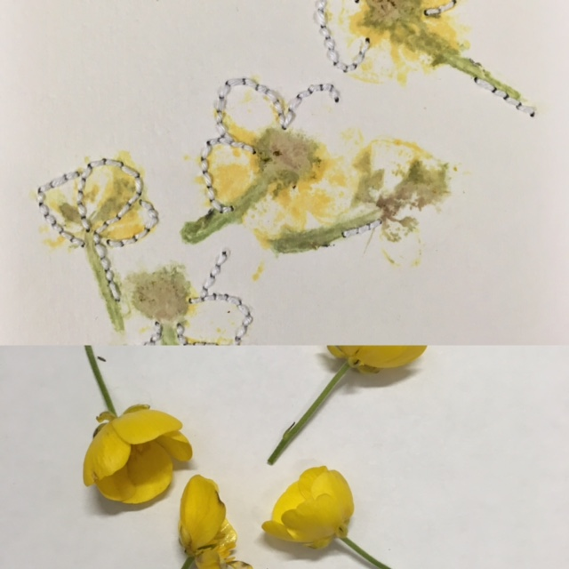 flower pressing + embroidery by Leah Pantéa