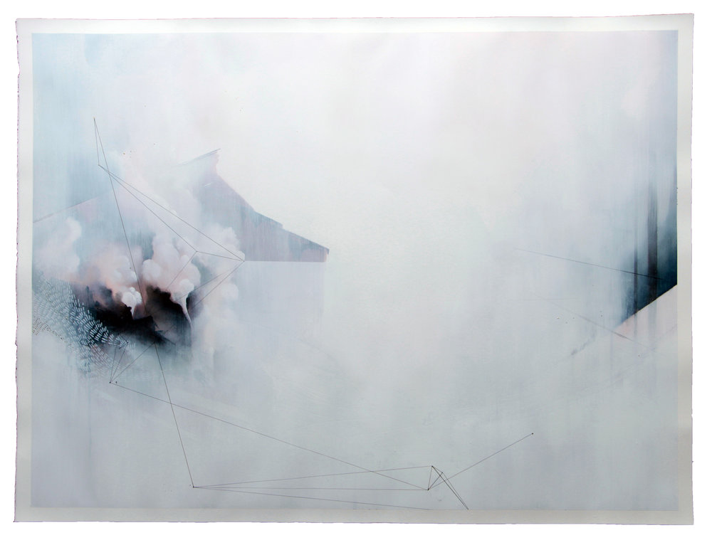 "An titils XVI | SOLD OUT  48"" x 36""  oil on hot-pressed watercolor paper  [click to inquire]"