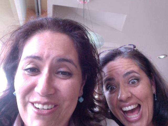 Bety y Bere Acosta... ¡ nos divertimos trabajando juntas!