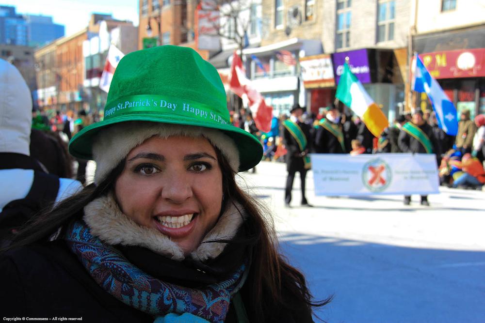 Desfile de San Patricio, marzo 2014, Montreal.