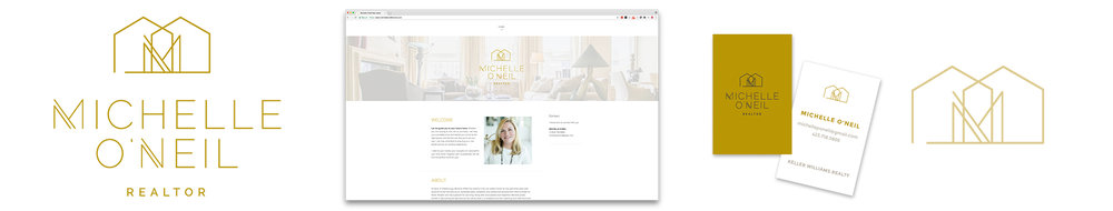 Michelle O'Neil Logo Brand Identity Website
