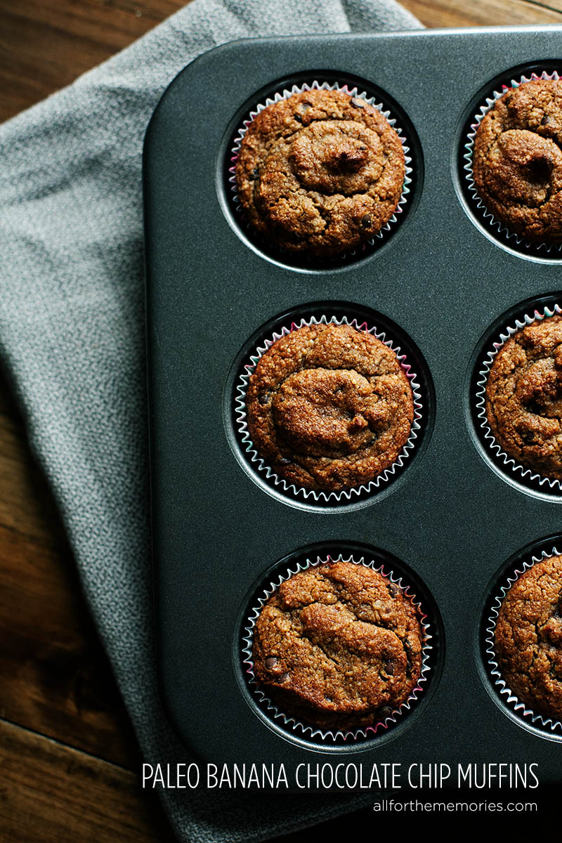 Paleo, Gluten Free Banana Muffins from All for the Memories