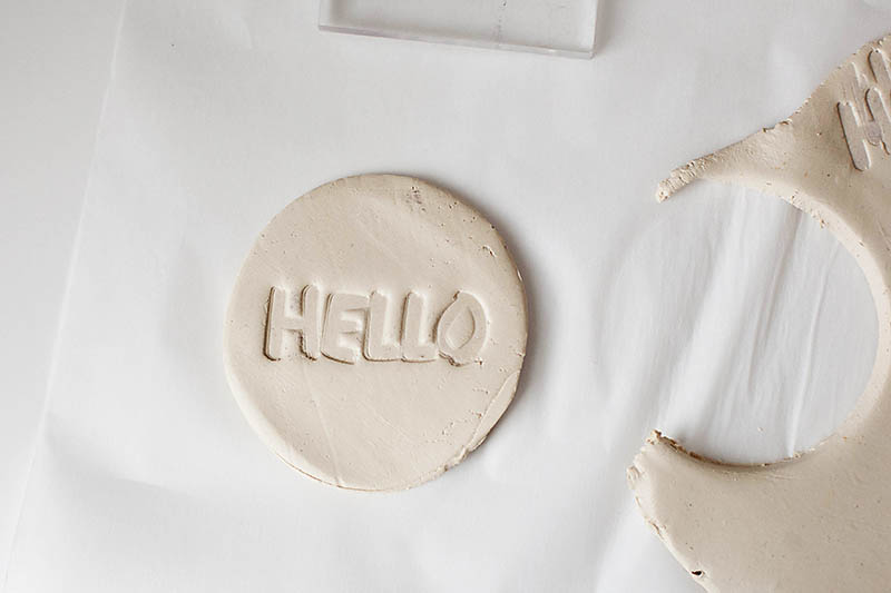 DIY Stamped air dry clay tags. A great personalized way to finish of a Mother's Day gift! from All for the Memories blog