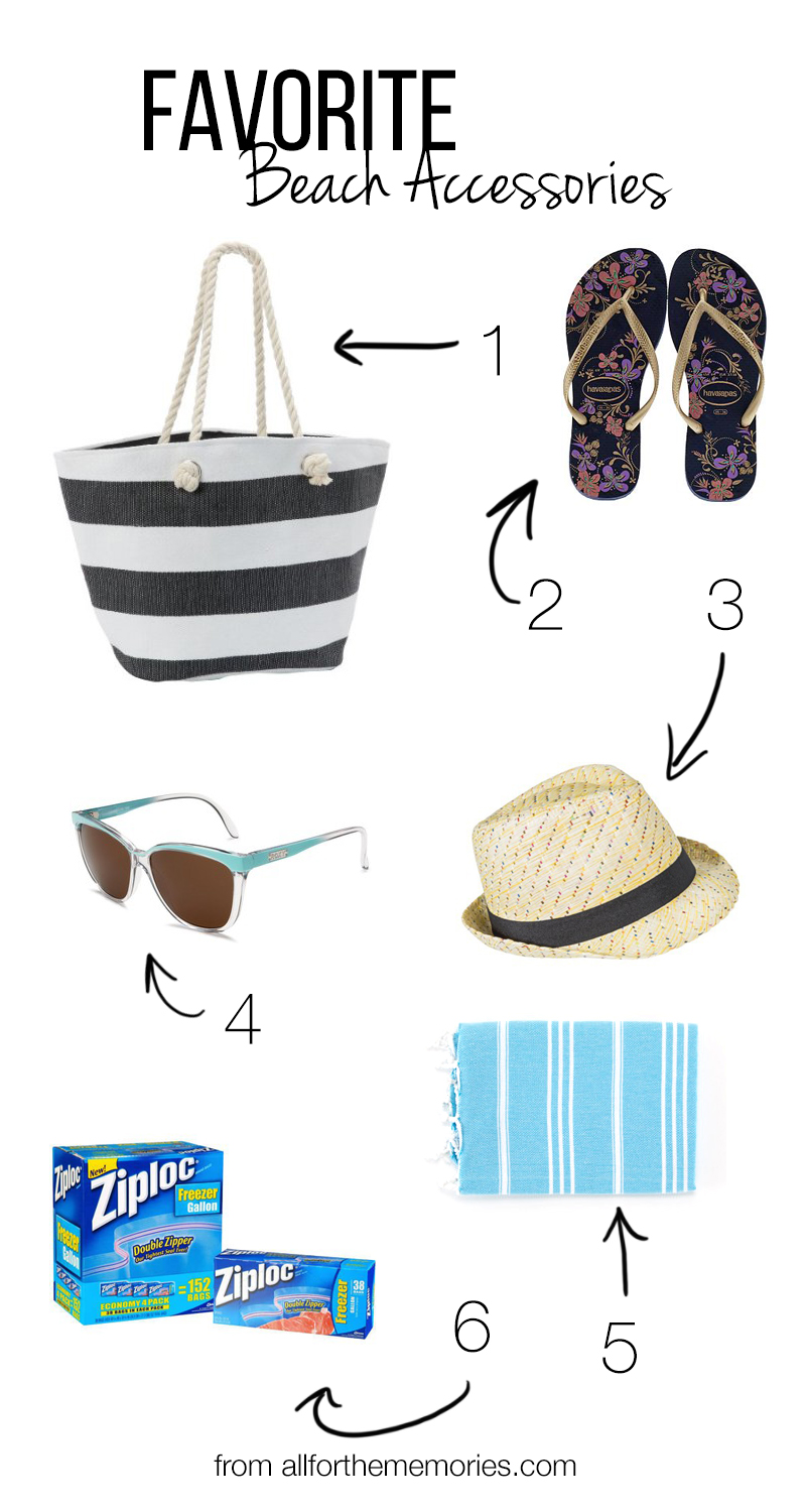 Favorite beach accessories from All for the Memories