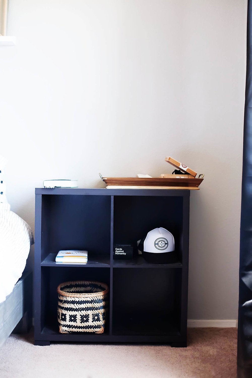 DIY Bedside Shelf Makeover at All for the Memories