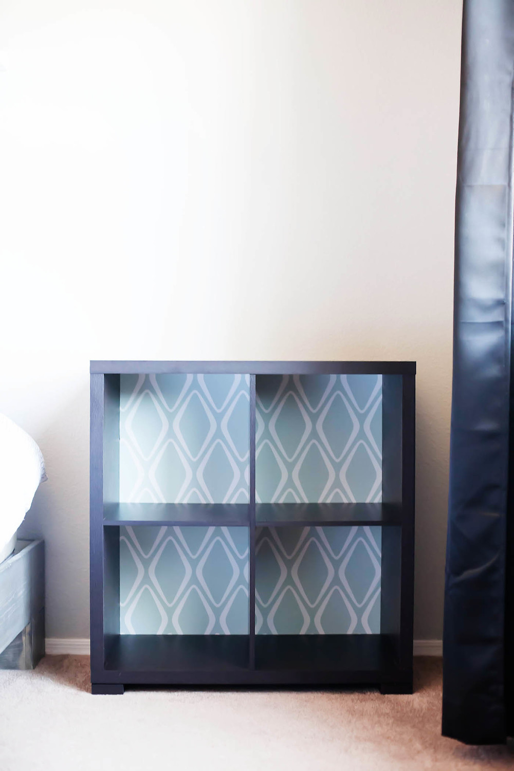 DIY Bedside Shelf Makeover from All for the Memories