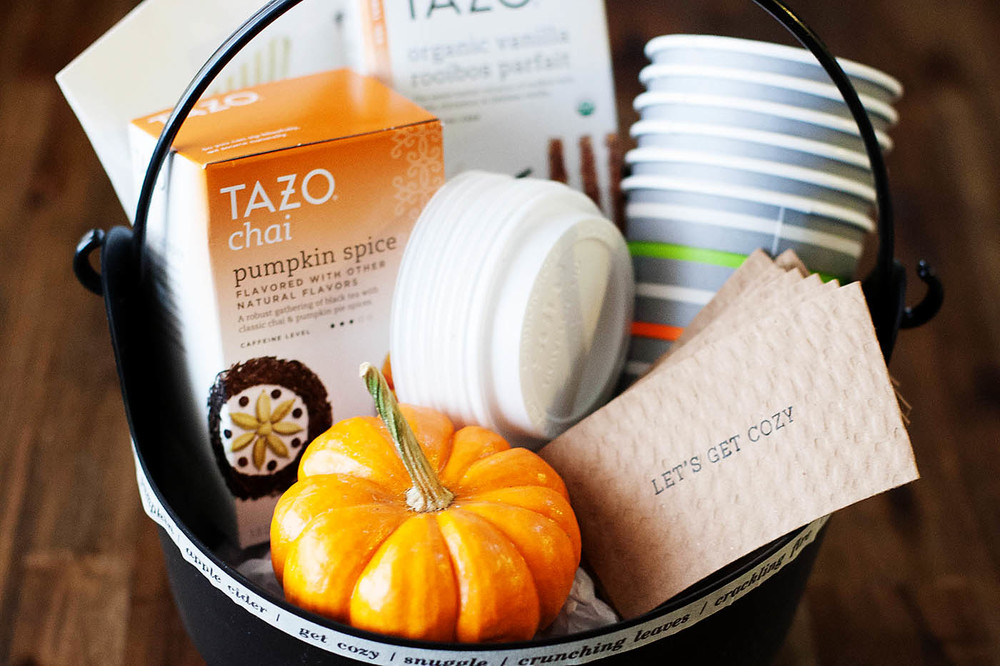 Personalized Fall gift basket from All for the Memories