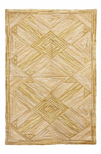 Cross bow cotton rug