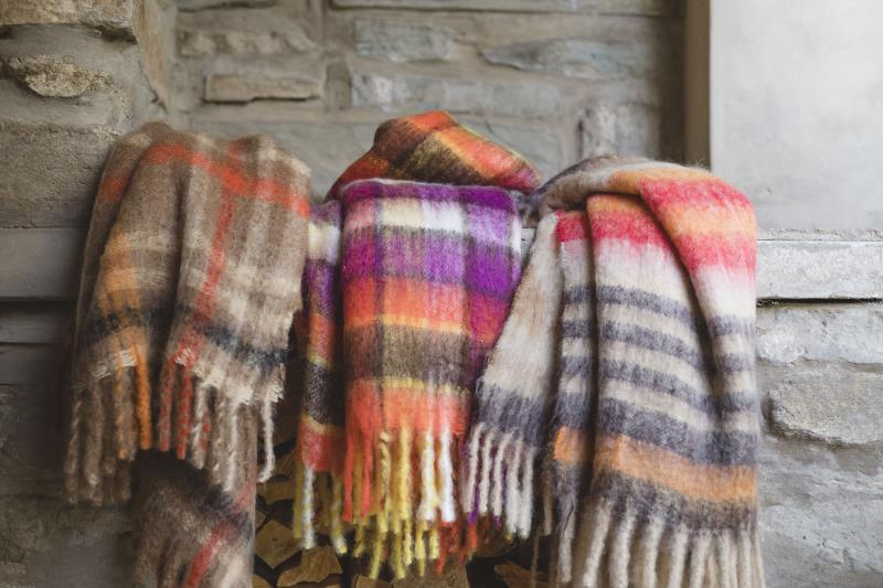 Comfy, soft throws on a snowy night ... yes please.