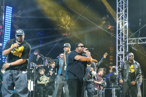 Performing with Wu-Tang Clan