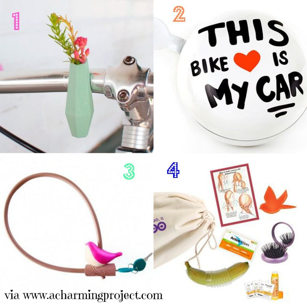cute bike accessories that will make you smile via www.acharmingproject.com