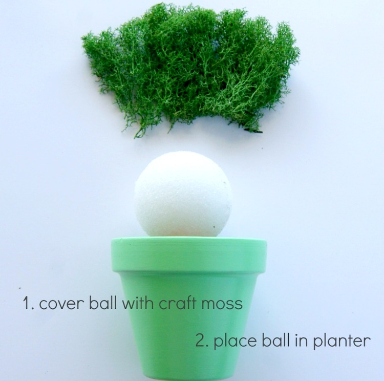 chalkboard paint planter centerpiece via www.acharmingproject.com