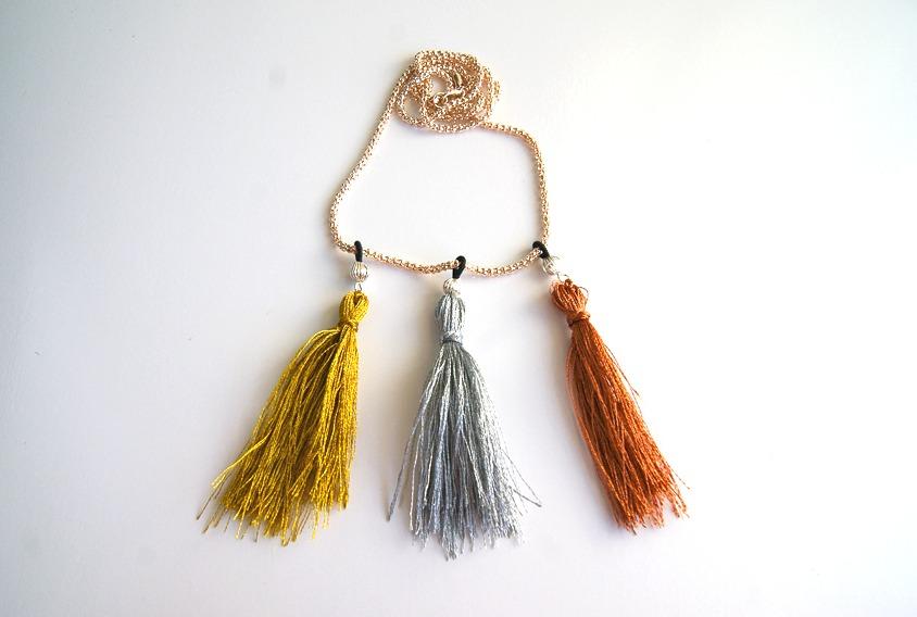 sassy tassel necklace