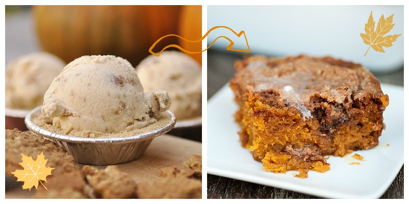 I can't wait to try this pumpkin ice cream recipe from Your Homebased Mom and pumpkin coffee cake from Buns in  my Oven