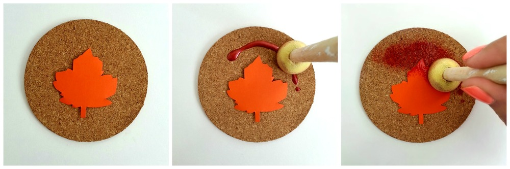 Maple Leaf Coasters - via www.acharmingproject.com