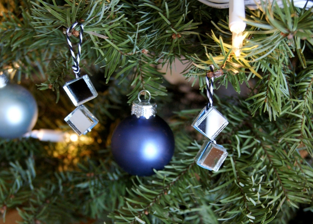 Mirror Tile Tree Ornaments via A Charming Project