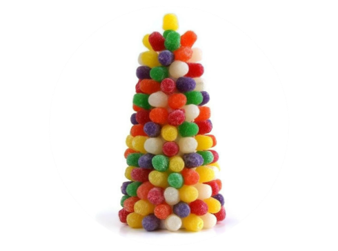 Holiday Spiced Gum Drop Tree