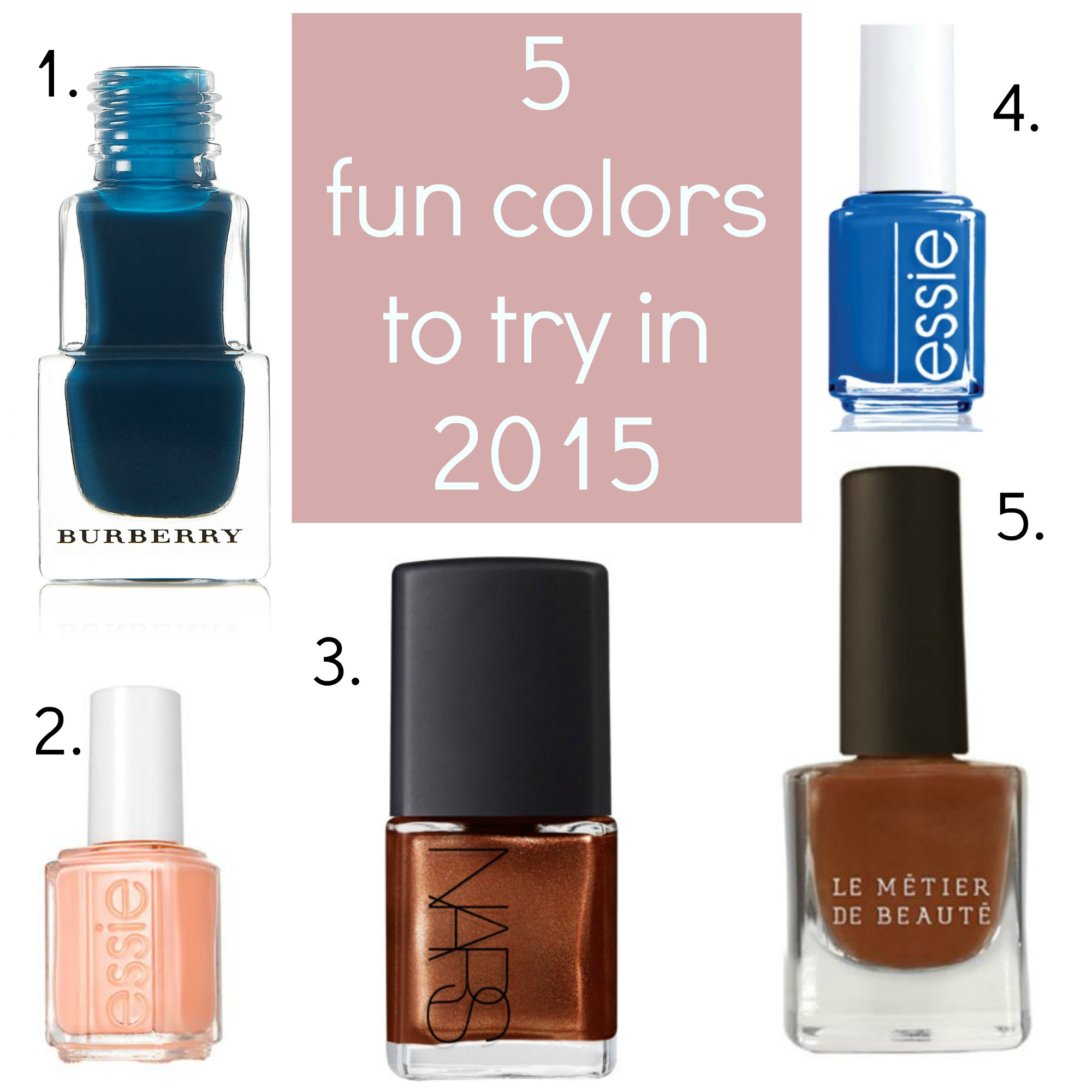Style Ideas // 5 New Nail Polish Colors to Try in 2015 — A Charming ...