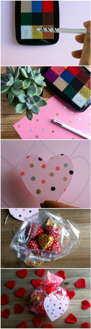 Crazy Easy Last Second Valentine's Day Heart Tag