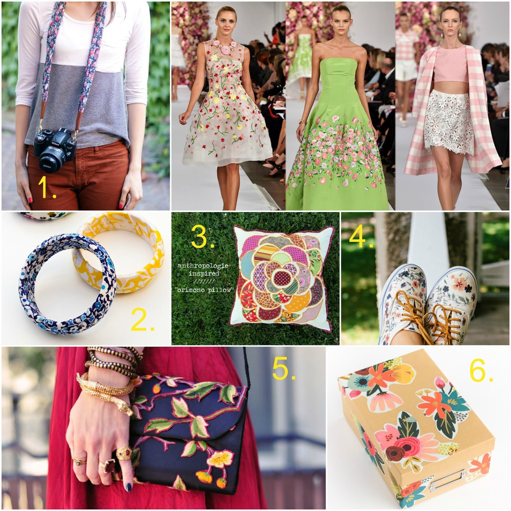 Style Splash Spring 2015 Floral Prints are trending and here arr 6 blossoming DIY projects to kick it all off