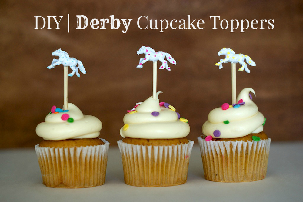 Kentucky Derby Party Cupcake Toppers