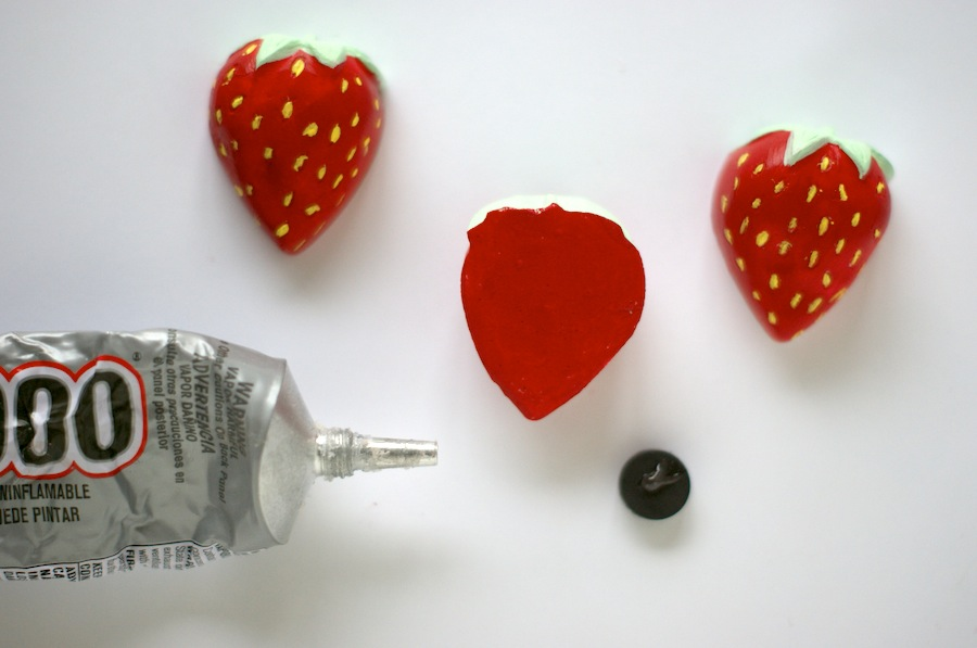 DIY Strawberry Magnets - A Charming Project