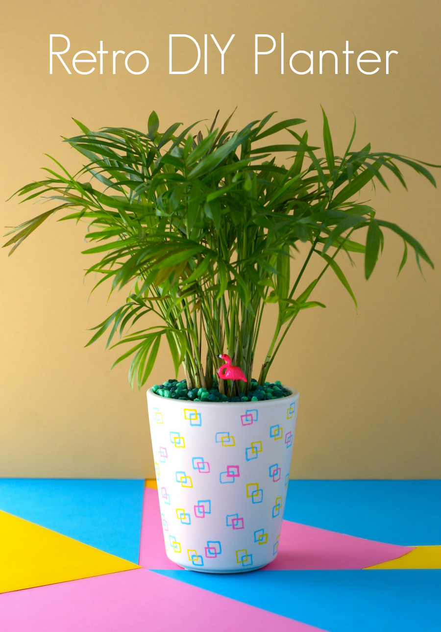 Easy DIY Retro Planter using Posca Markers