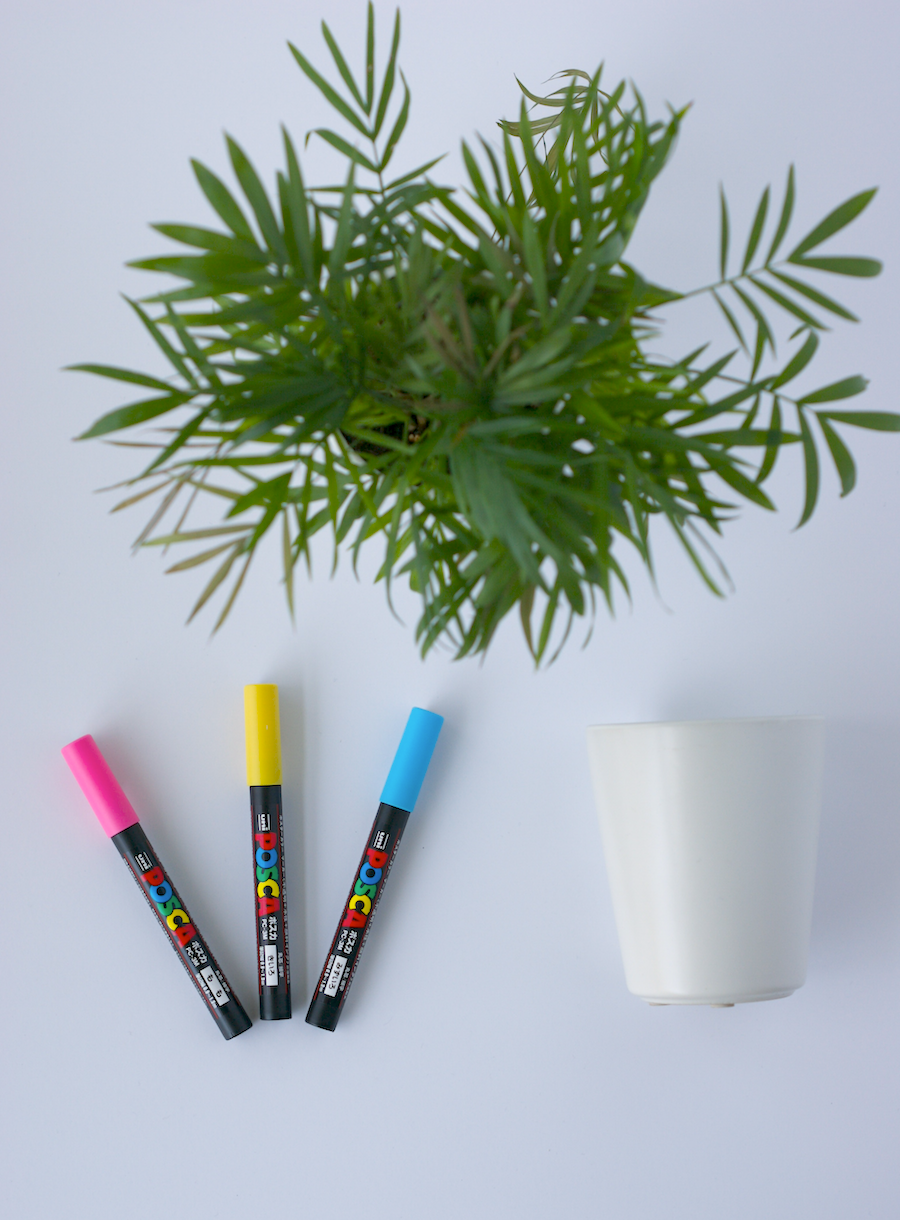 Make a DIY retro planter using Uni Posca markers