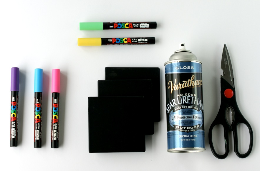 Crafting with Markers - DIY Coasters