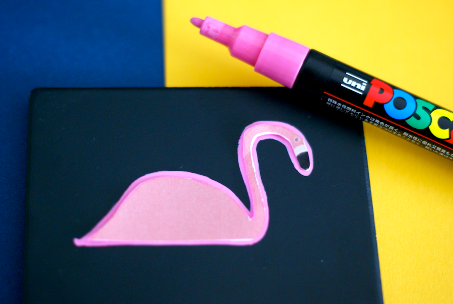 DIY Flamingo Coasters - template included