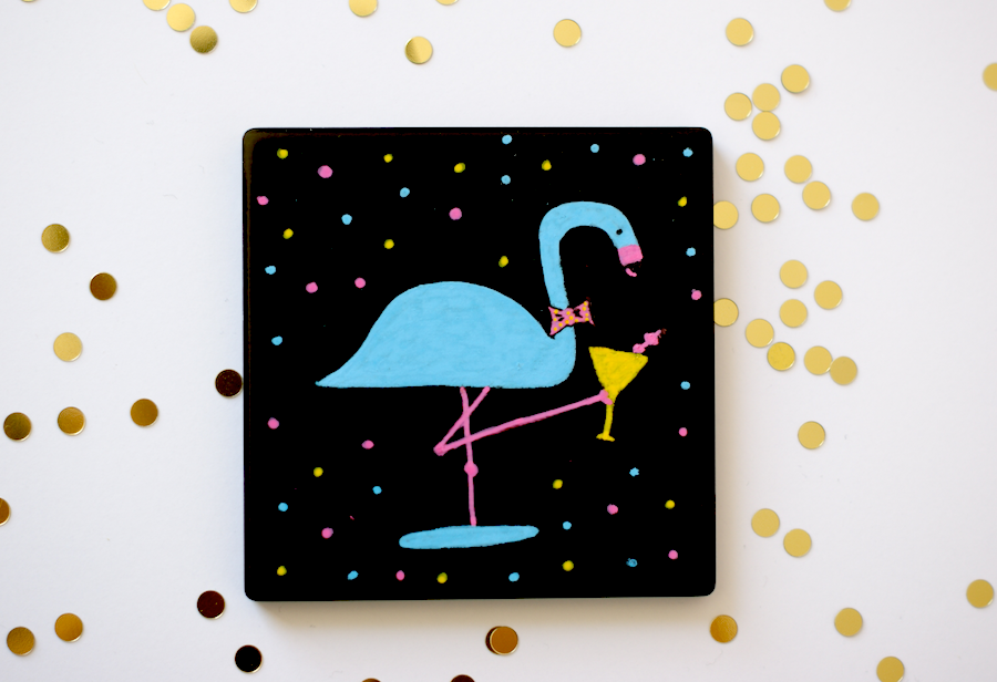 DIY Flamingo Happy Hour Coasters