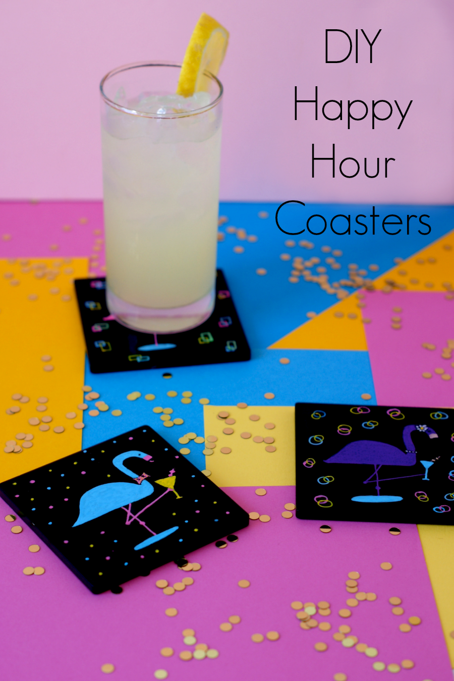 Crafting with Markers - Happy Hour Dapper Flamingo Coasters