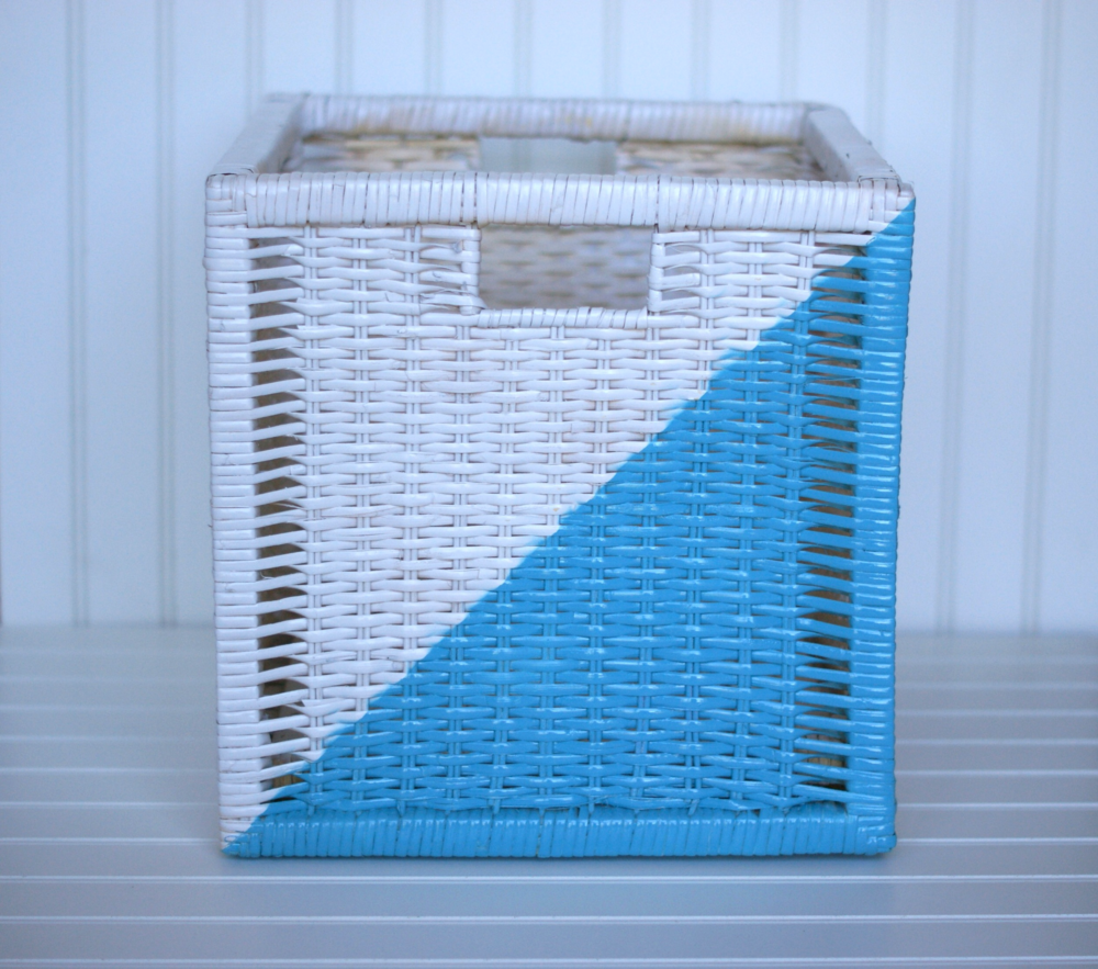 ikea storage box geometric makeover