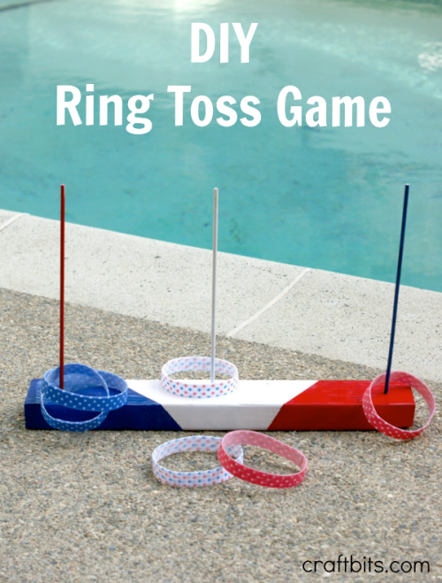 Fourth of July DIY ring toss party game