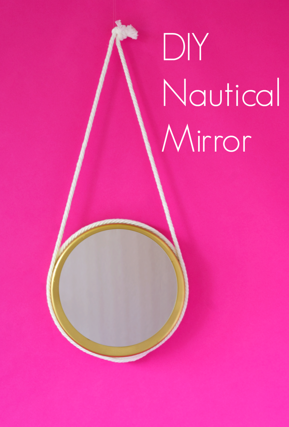 DIY Nautical Mirror from a baking pan via A Charming Project