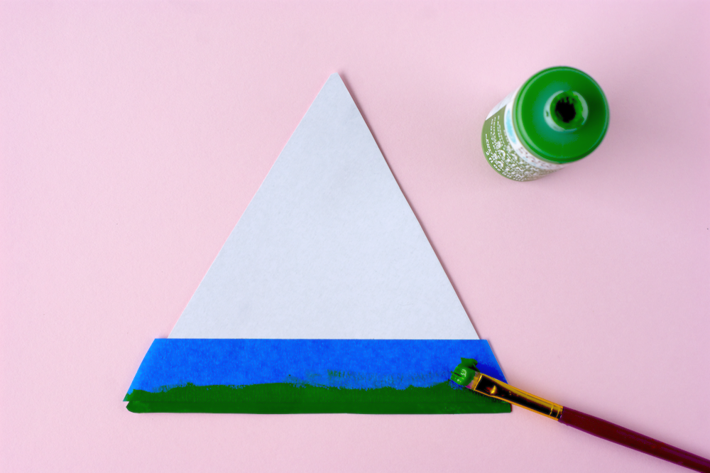 Hand Painted Watermelon Slice Wall Art Step 1