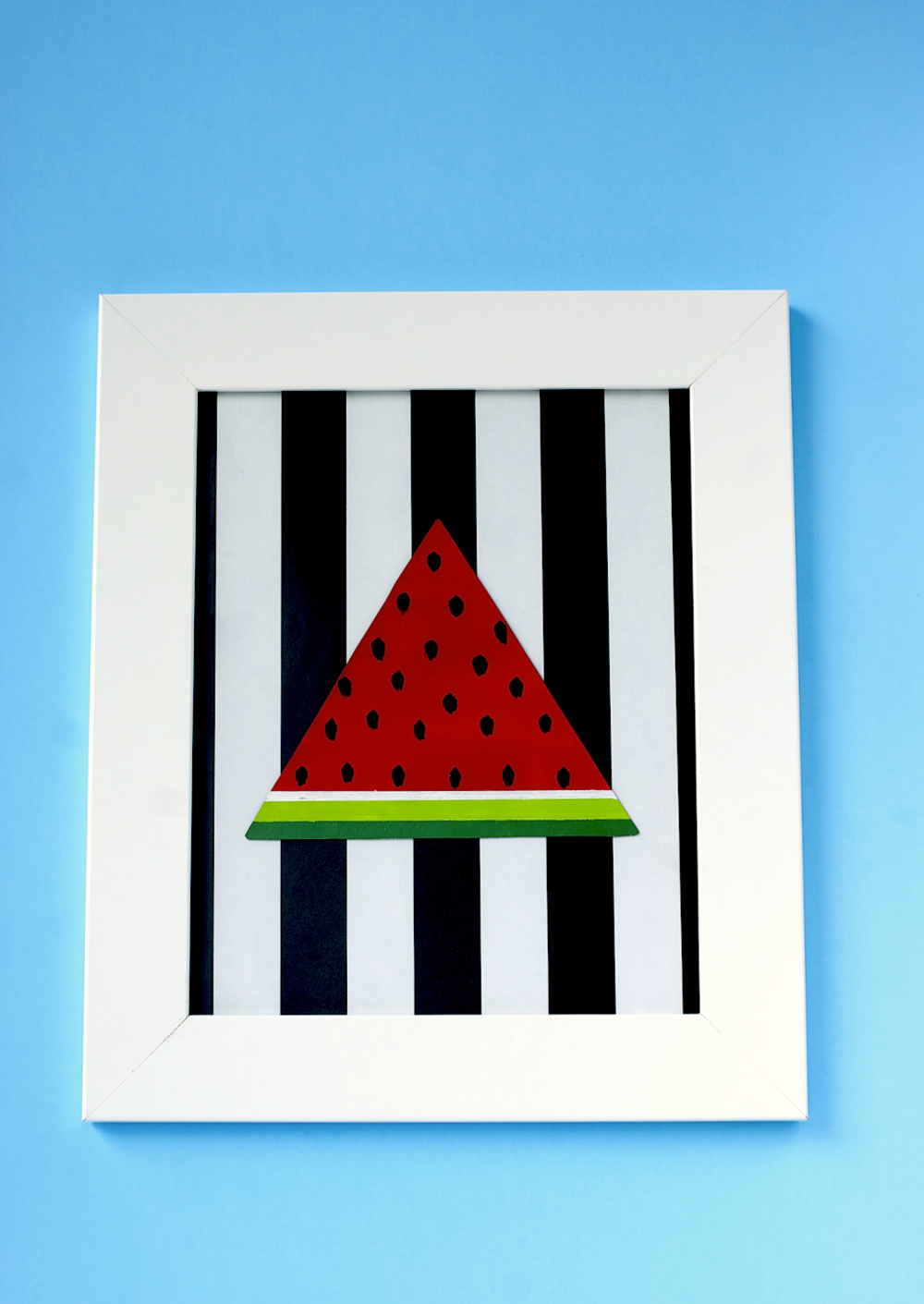 Hand Painted Watermelon Slice Wall Art via A Charming Project