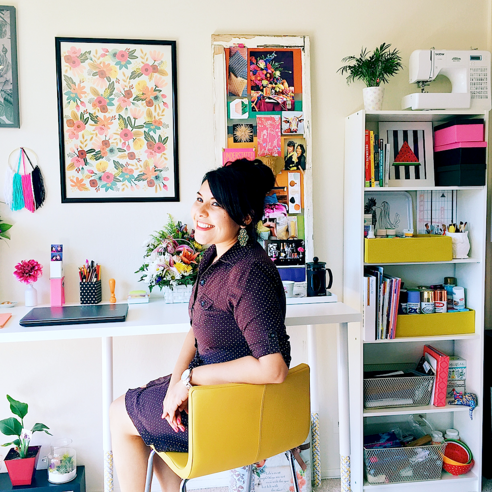 A Charming Project- A tour of my creative space and a few home office tips!