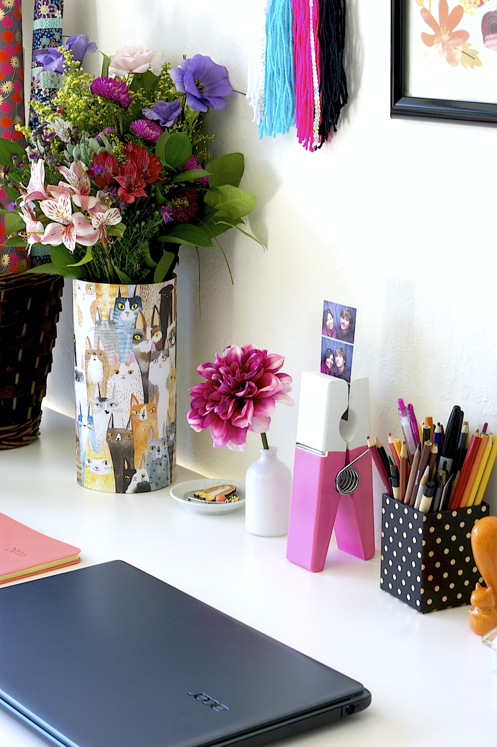 My creative space and tips for organization