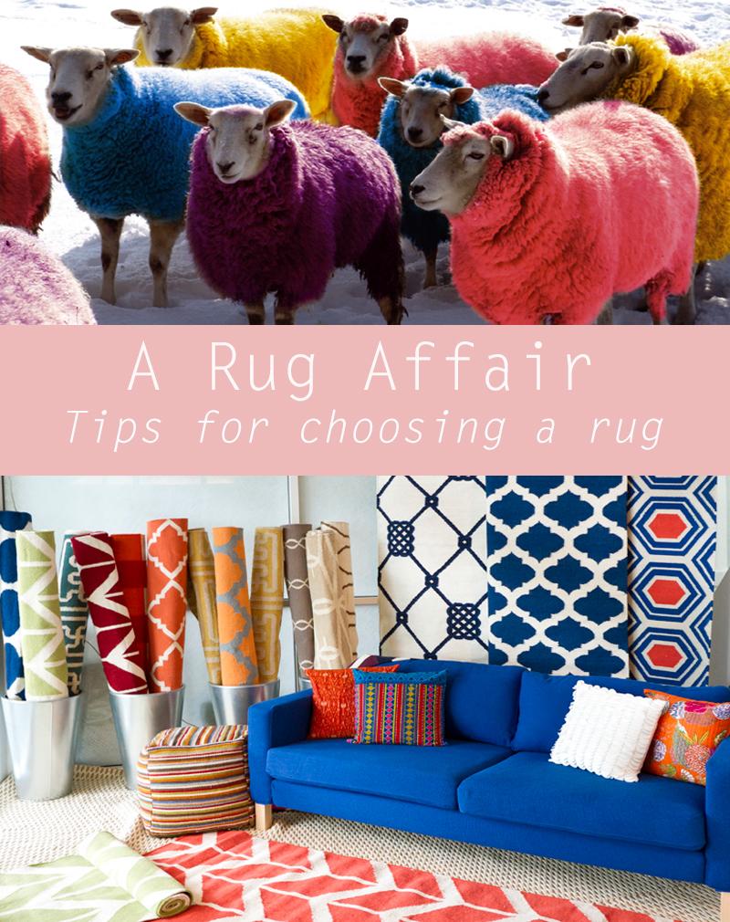 A rug Affair tops on choosing a rug