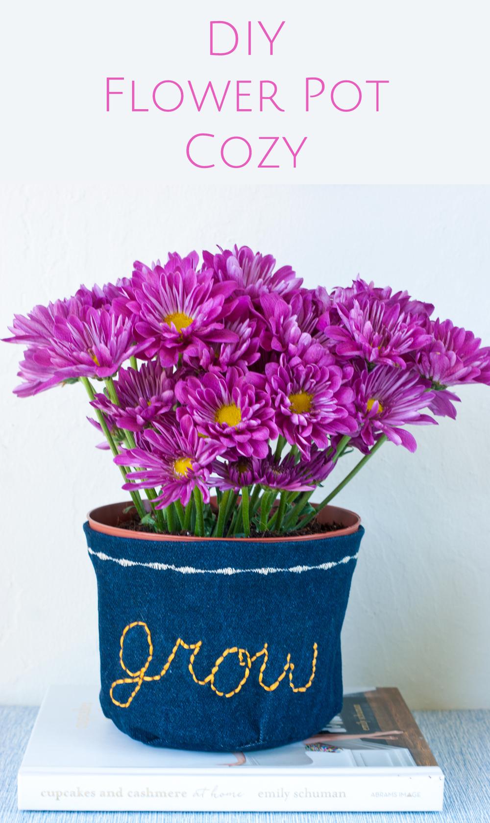 DIY Flower Pot Cozy via A Charming Project