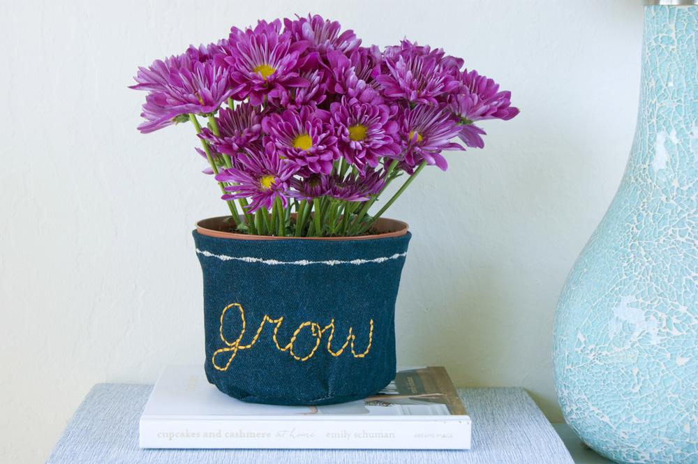 DIY Flower Pot Cozy - Grow