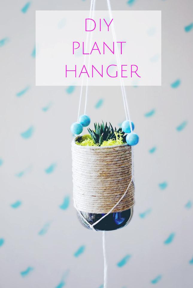 Easy DIY Plant Hanger_macrame