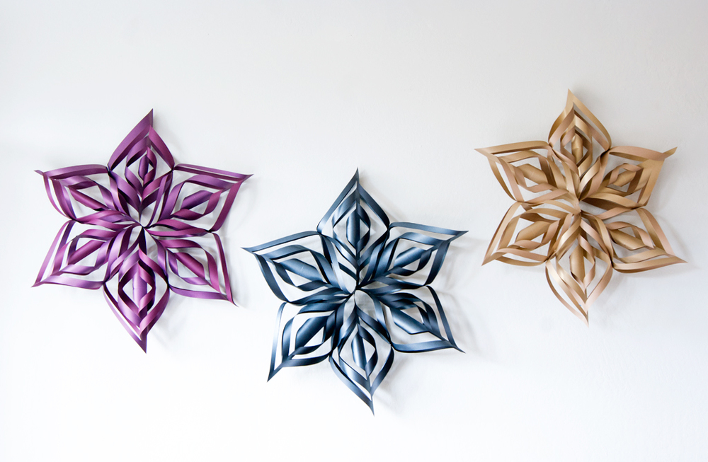 DIY Snowflake Christmas Decorations in a few easy steps