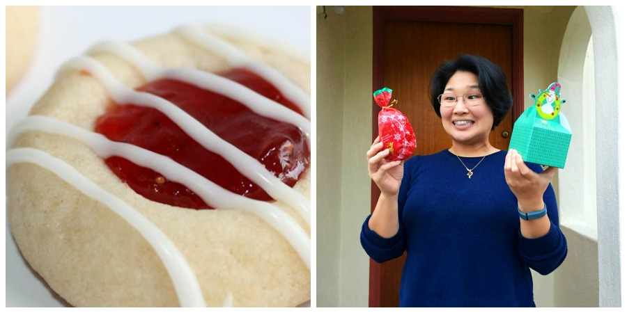 Aya and her Cool Whip Cookies via Dine and Dish, and Rasberry Almond Shortbread Cookies via All Recipes