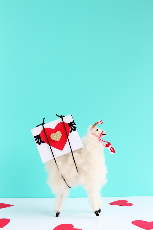 Valentine's Day DIY Heart Candy Box -Alpaca optional