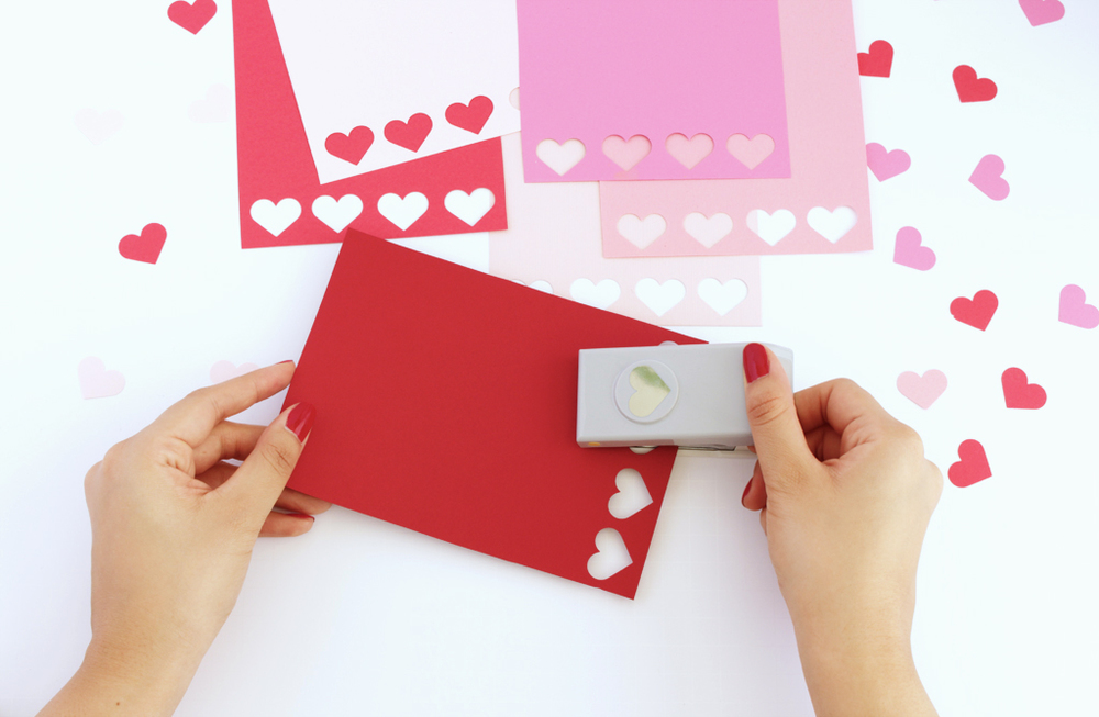 DIY Ombre Heart Valentine Card